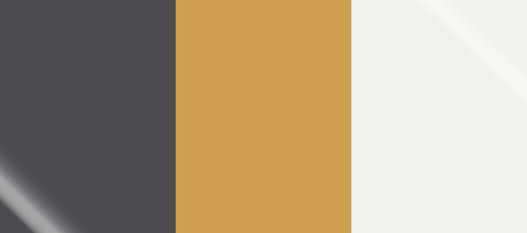 Pantone Winter 2018-19 Color Palette: Blackened Pearl, Bright Gold, Snow White