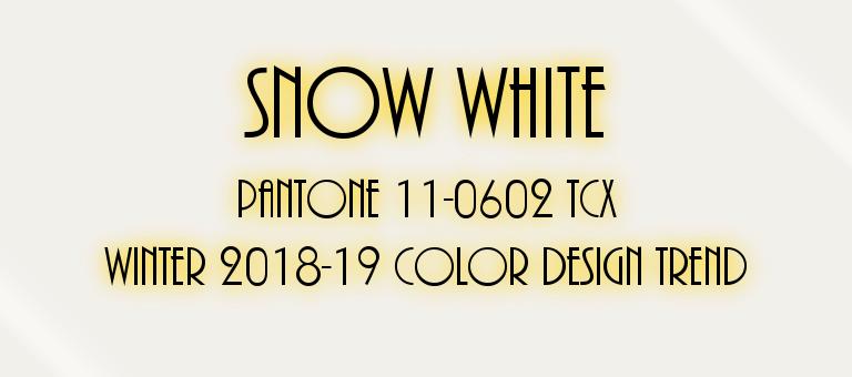 Snow White Pantone 11-0602