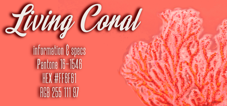 Information and codes for Living Coral, the Pantone 2019 Color of the Year.