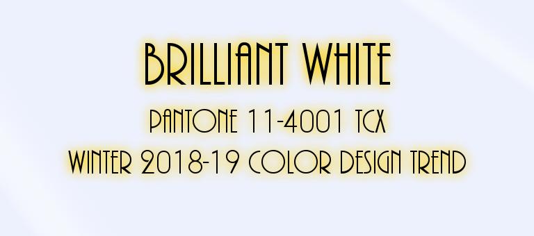 Brilliant White: Pantone 11-4001 TCX