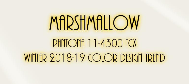 Marshmallow: Pantone 11-4300 TCX