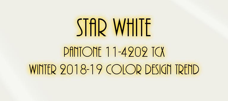 Star White: Pantone 11-4202 TCX