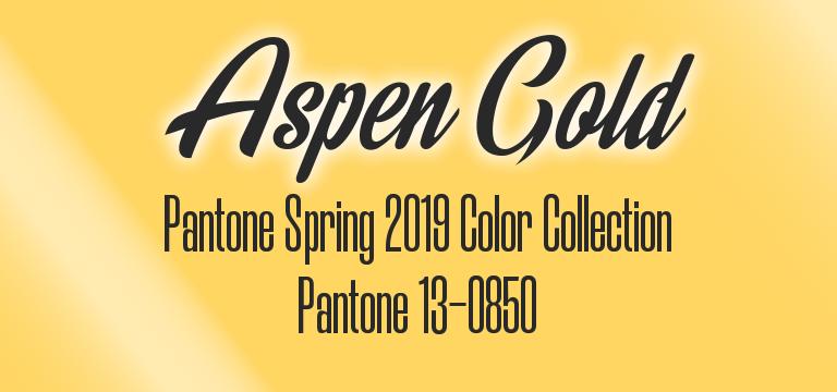 Aspen Gold, Pantone Spring 2019 color palette