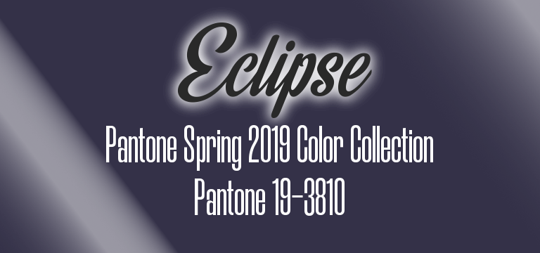 Eclipse, Pantone Spring 2019 color palette