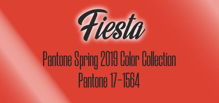 Fiesta, Pantone Spring 2019 color palette