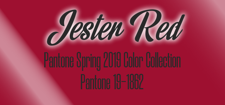 Jester Red, Pantone Spring 2019 color palette