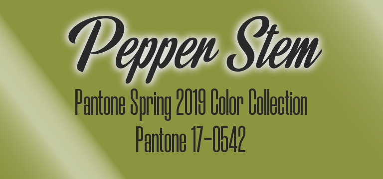 Pepper Stem, Pantone 17-0542