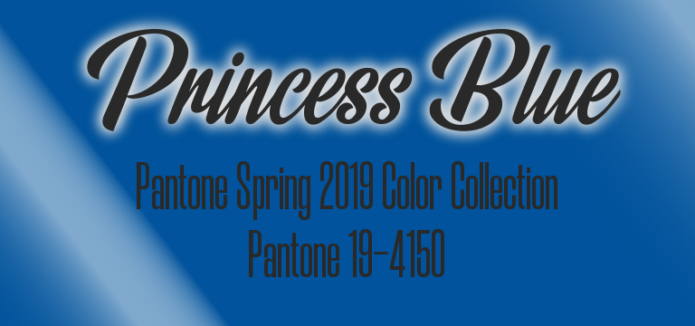 Will Princess Blue become the breakout Pantone color of 2019? Princess Blue, Pantone 19-4150