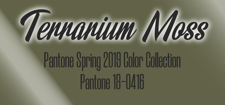 Terrarium Moss, Pantone Spring 2019 color palette