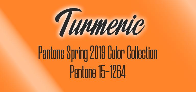 Turmeric, Pantone Spring 2019 color palette
