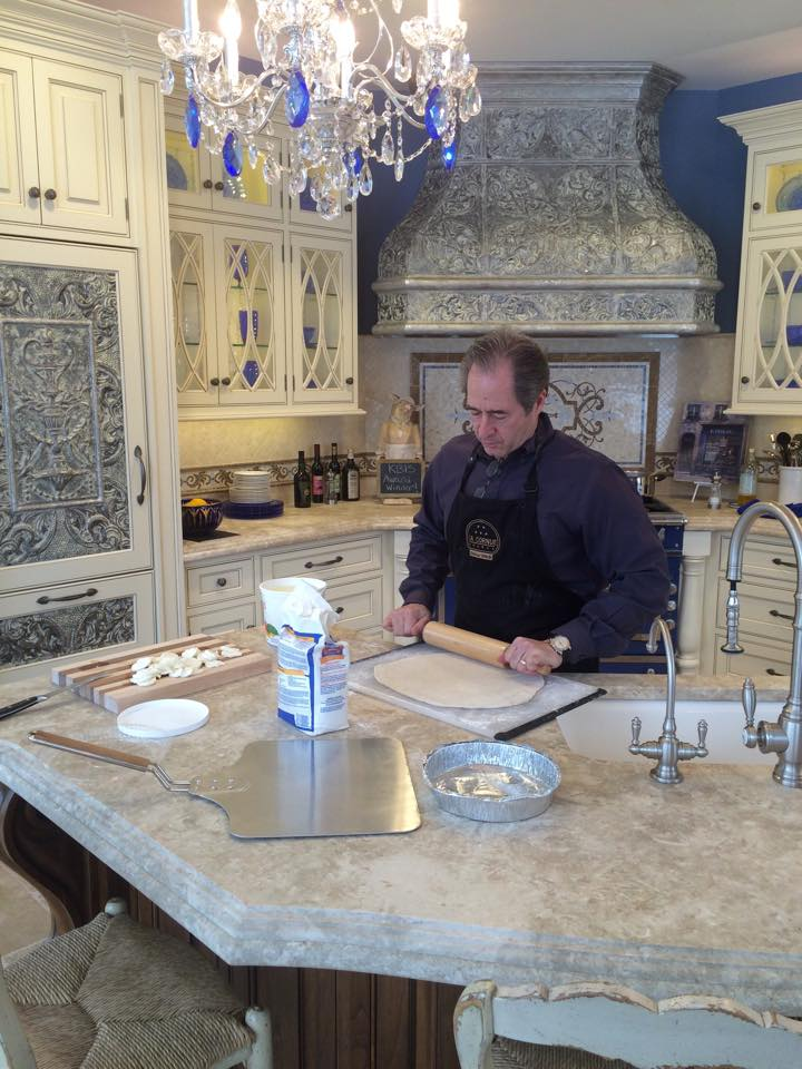Peter Salerno (of Peter Salerno Inc.) has announced a new line of cookbooks. Here's Peter Salerno in his design showroom!