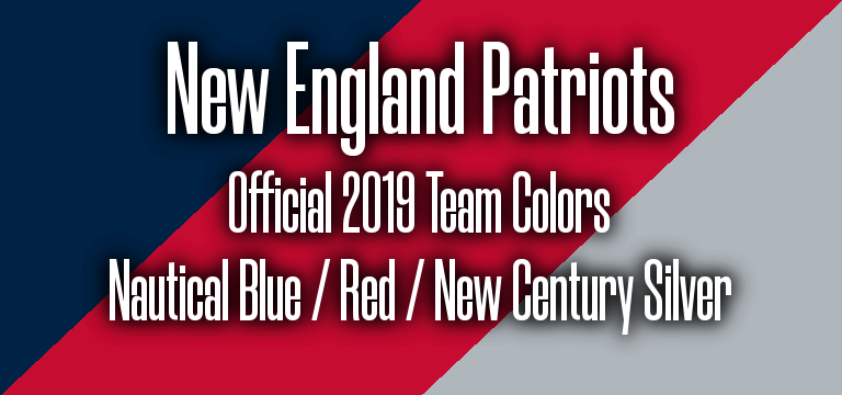 New England Patriots Official 2019 Super Bowl 53 Pantone RGB Colors.