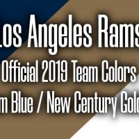 Super Bowl 53 | Rams vs. Patriots Official Pantone Team Colors