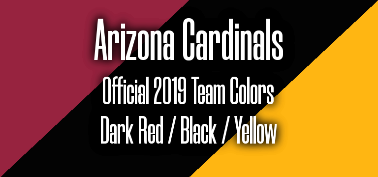Official 2019 NFL Team Pantone color codes: Arizona Cardinals