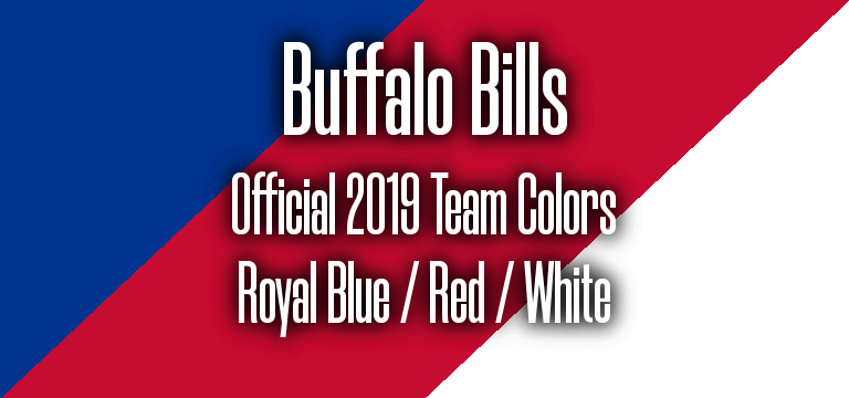 Official 2019 NFL Team Pantone color codes:  Buffalo Bills