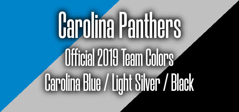 Official 2019 NFL Team Pantone color codes: Carolina Panthers