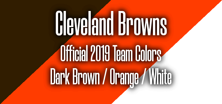Official 2019 NFL Team Pantone color codes:  Cleveland Browns