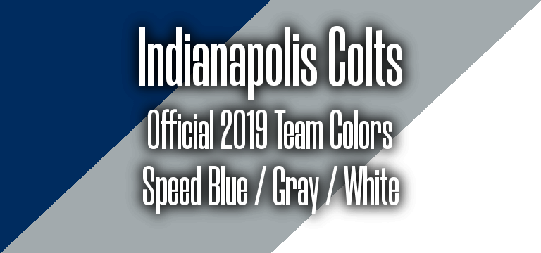 Official 2019 NFL Team Pantone color codes:  Indianapolis Colts