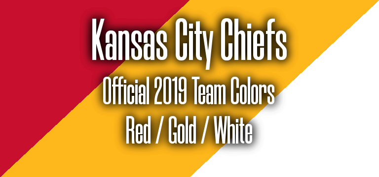 Official 2019 NFL Team Pantone color codes:  Kansas City Chiefs