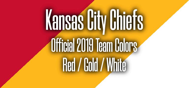 Official 2019 NFL Team Pantone color codes:  Kansas City Chiefs