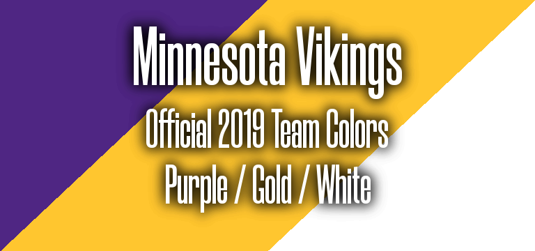 Official 2019 NFL Team Pantone color codes: Minnesota Vikings