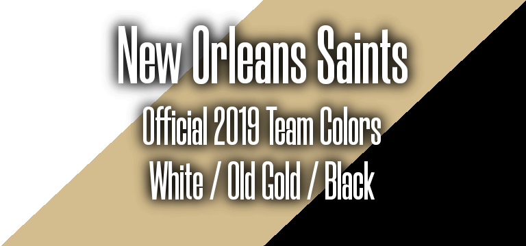 Official 2019 NFL Team Pantone color codes: New Orleans Saints