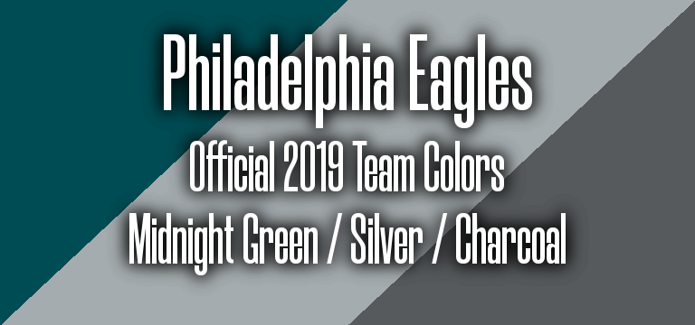 Official 2019 NFL Team Pantone color codes: Philadelphia Eagles