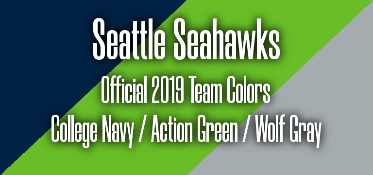 Official 2019 NFL Team Pantone color codes: Seattle Seahawks