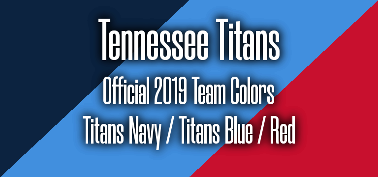 Official 2019 NFL Team Pantone color codes:  Tennessee Titans