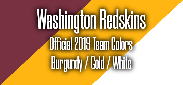 Official 2019 NFL Team Pantone color codes: Washington Redskins