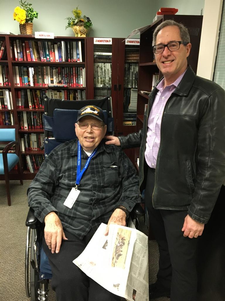 Peter Salerno visits the Paramus Veterans Memorial Home in NJ.