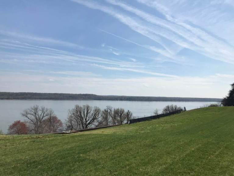 The bank of the Potomac River at Mount Vernon.