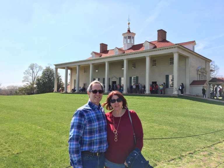 Tracy and Peter Salerno at Mount Vernon in spring.