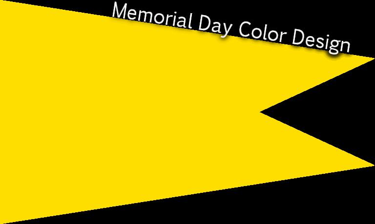 Memorial Day official color Pantone yellow C