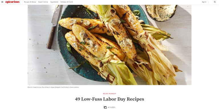 Check out Epicurious' 2019 Labor Day Recipes