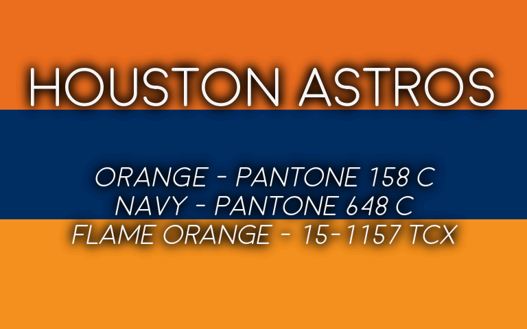 2019 MLB Playoffs Pantone Astros