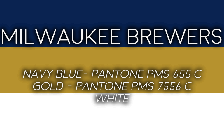 2019 MLB Playoffs Pantone Brewers