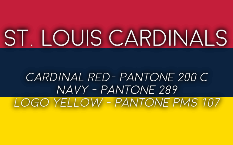 2019 MLB Playoffs Pantone Cardinals