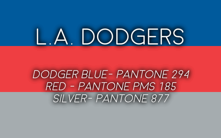 2019 MLB Playoffs Pantone Dodgers