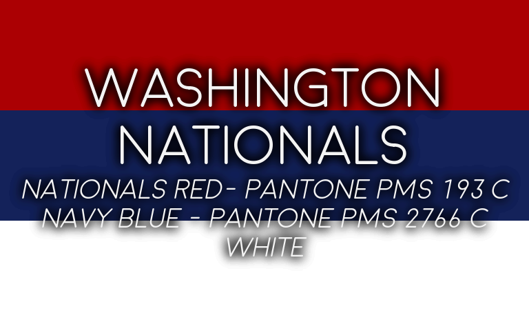 2019 MLB Playoffs Pantone Nationals