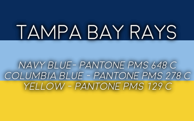 2019 MLB Playoffs Pantone Rays