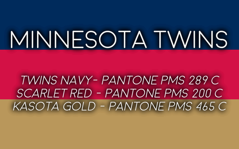 2019 MLB Playoffs Pantone Twins
