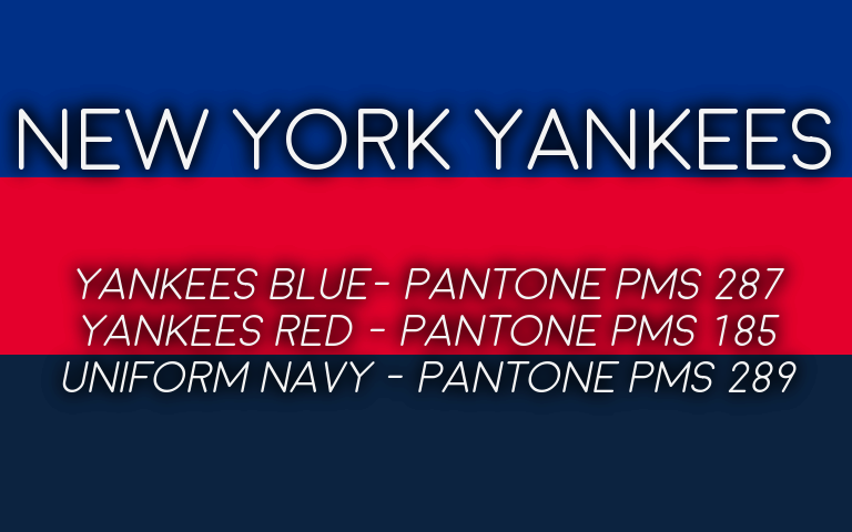 2019 MLB Playoffs Pantone Yankees