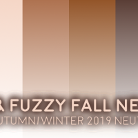 Warm + Fuzzy Fall 2019 PANTONE Neutrals