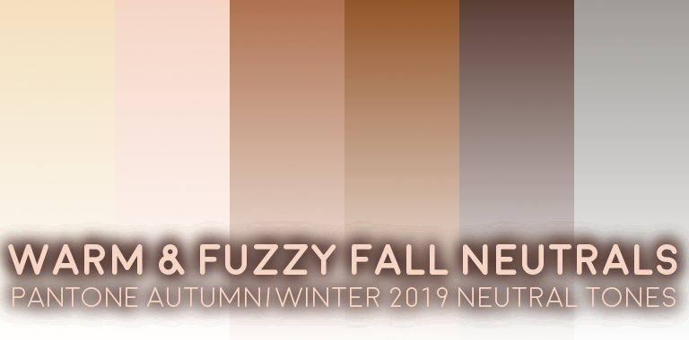 PANTONE Autumn/Winter 2019 Neutral Colors