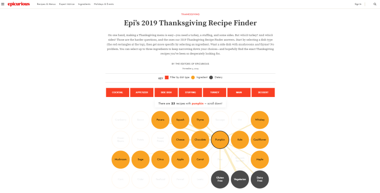 Epi's 2019 Thanksgiving Recipe Finder