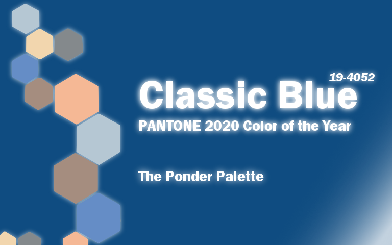 PANTONE 2020 Color of the Year Classic Blue Ponder Palette