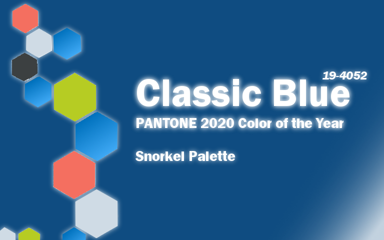 PANTONE 2020 Color of the Year Classic Blue Snorkel Palette