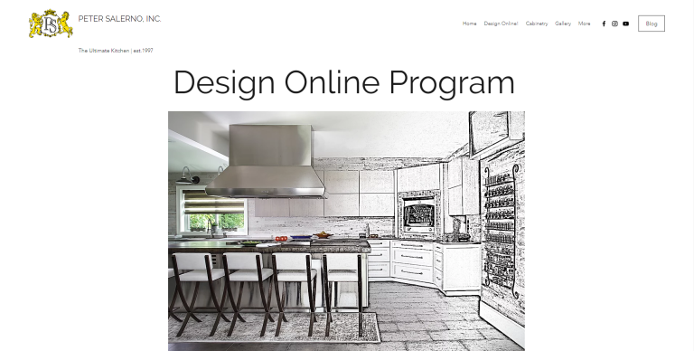 "Peter Salerno Inc. presents ""Design Online"" virtual kitchen + bath design during the COVID-19 crisis."